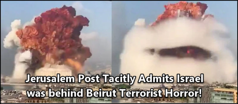 Jerusalem Post Tacitly Admits that Israel Was Behind Beirut Terrorist Attack!