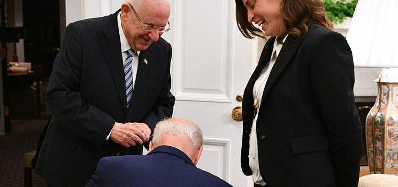 Dr Duke & Dr Slattery — Biden kneels before President of Israel, promises unwavering support for Jewish supremacy