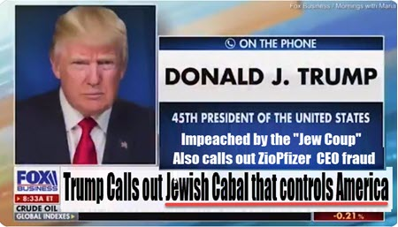 """Dr Duke &  Mark Collett — Trump Calls out the Jewish Cabal that Controls the U.S. & Says he can 'see the """"dollar signs in the eyes of Pfizer's [Zio] CEO"""""""