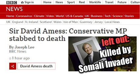 Dr. Duke & Mark Collett Somali Murders White Christian MP in UK – ZioMedia Anti-White Hate Intensifies!